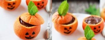 recette clementines chocolat halloween