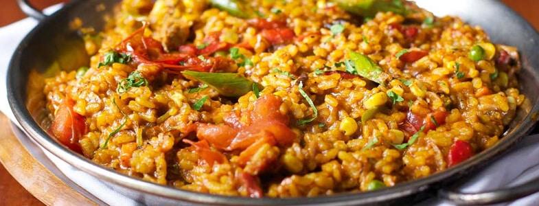 Paella végétarienne aux asperges