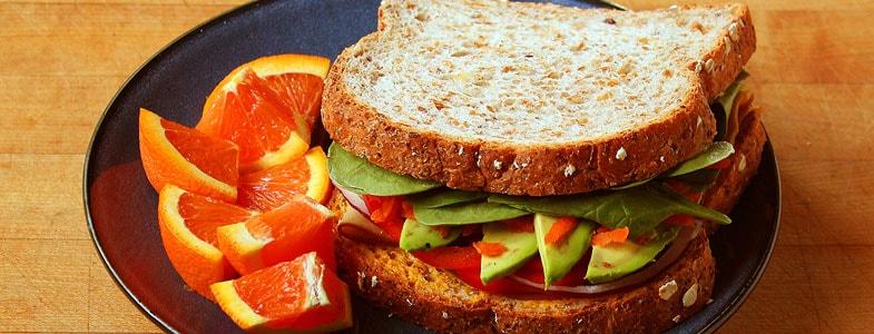 Recette sandwich végétarien Pain aux céréales