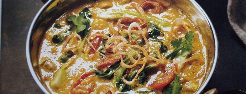 Recette curry végétarien épicé à l'ananas