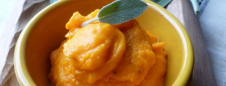 recette végétarienne purée de courge butternut