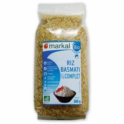 riz basmati demi-complet - céréales - produit végétarien