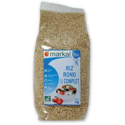 Riz rond demi complet - céréales - produits végétariens