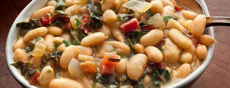 Salade chaude aux haricots blancs