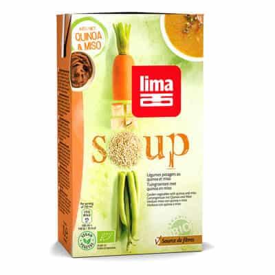 Soupe bio légumes potagers quinoa miso