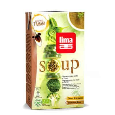 soupes légumes verts lentilles lima