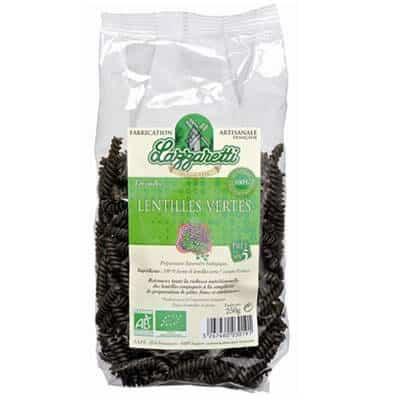 Torsades lentilles vertes - boutique produits végétariens