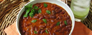 Recette végétarienne haricots rouges à la tomate