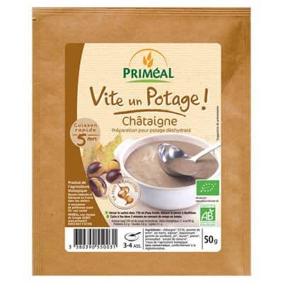 Potage bio végétarien châtaigne priméal