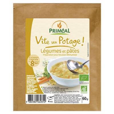 potage végétarien légumes pâtes