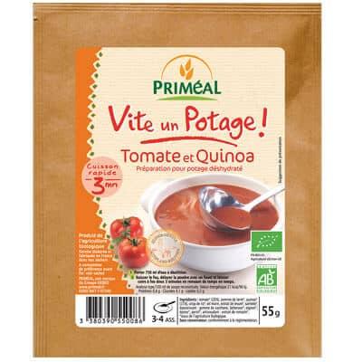 potage végétarien priméal tomate et quinoa