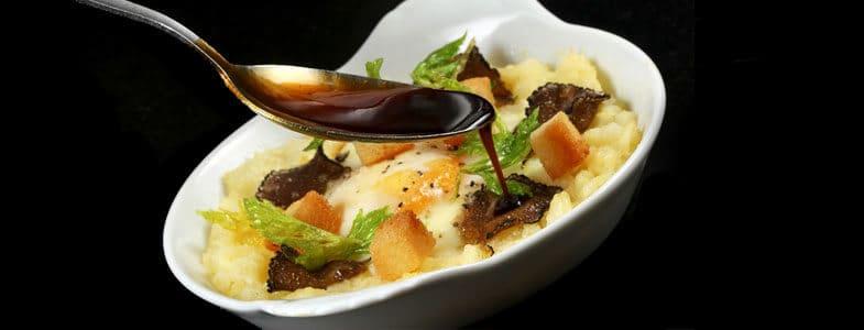 Recette végétarienne gastronomique oeuf à la truffe