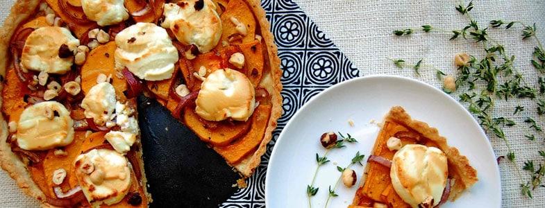 Recette tarte à la courge butternut
