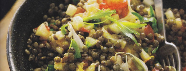 Recette salade de lentilles froides