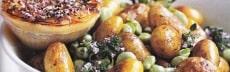 recette végétarienne pommes de terre févettes