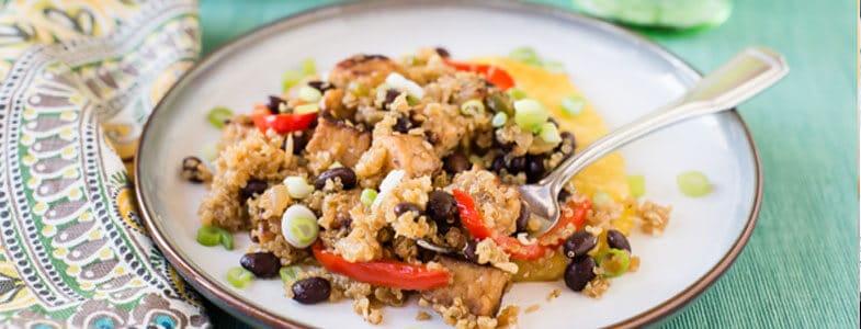 Recette Quinoa frit haricots noirs et tempeh