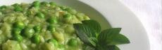 recette végétarienne risotto aux petits pois