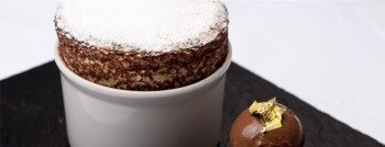 Dessert noel végétarien - soufflé orange chocolat
