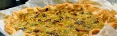 recette quiche poireaux champignons vegan