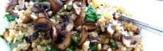 Recette riz pilaf épinards champignons noisettes