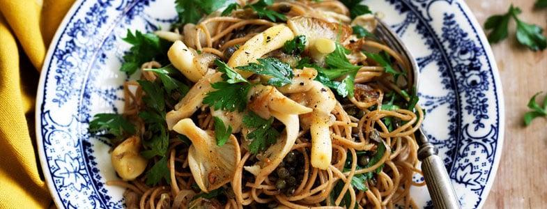 Recette spaghettis aux lentilles vertes