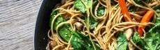 recette wok nouilles shiitake sesame