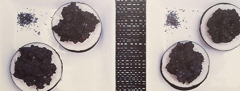 Tapenade noire sur radis noir