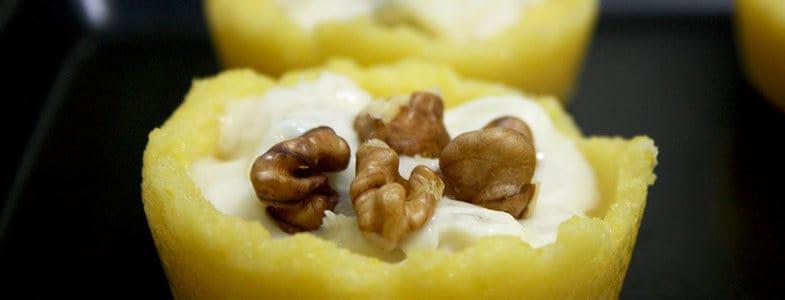 Polenta au gorgonzola et noix