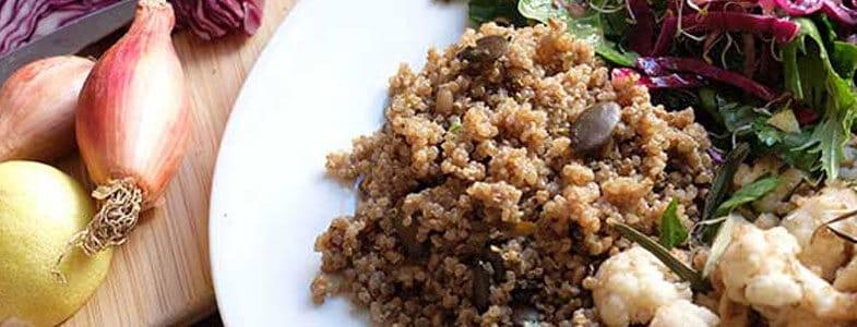 Recette Salade de quinoa, épinards et choux
