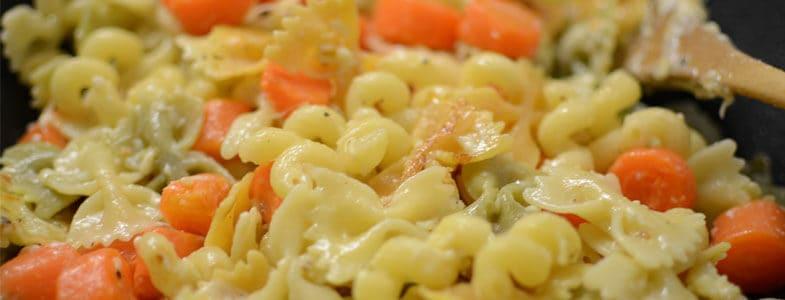Pâtes aux carottes