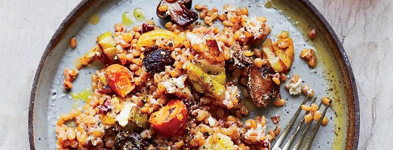 recette végétarienne blé légumes grillés