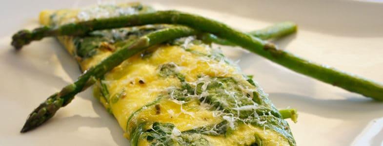 Recette omelette asperges epinards