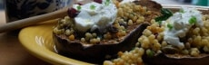 recette végétarienne aubergines couscous