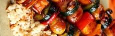 Recette végétarienne brochettes légumes et tofu