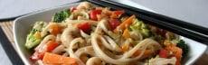 recette végétarienne nouille chinoise