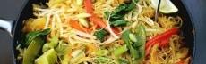 recette vermicelles riz soja