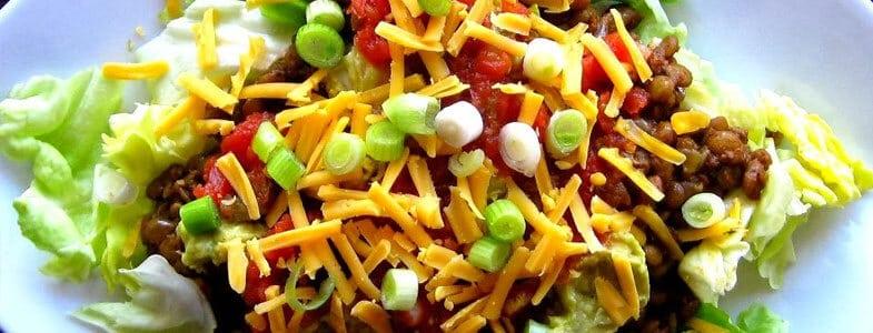 recette végétarienne salade taco