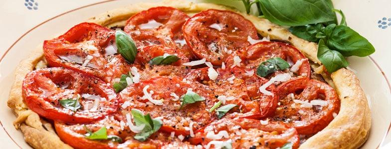 Recette tarte à la tomate et moutarde