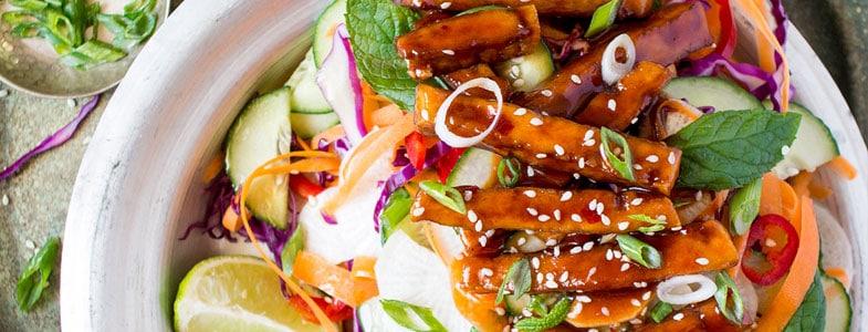 Recette Légumes frais et tofu au sirop d'érable