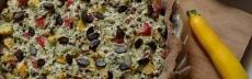 recette vegan tarte légumes graines de courge