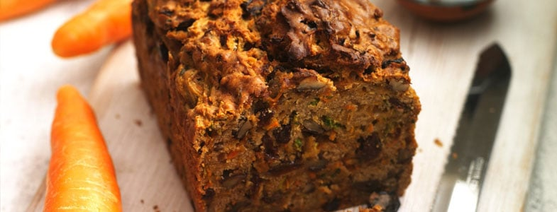 Recette végétarienne Cake aux carottes, courgettes et noisettes