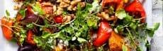 recette vegetarienne salade chaude potiron epices