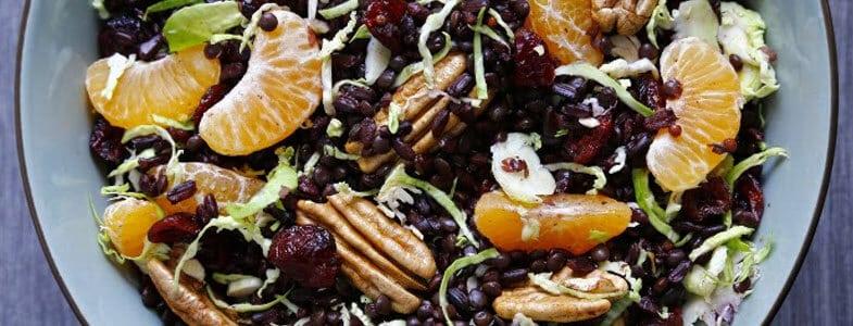 Recette vegan - Salade d'hiver sucrée salée