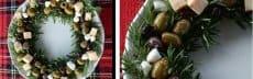 apéritif noel végétarien couronne olives