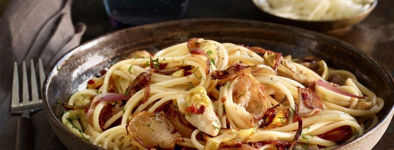 recette vegetarienne noel linguine topinambours