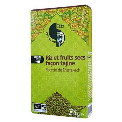 riz fruits secs autour de l'asie