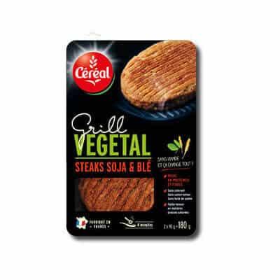 steak soja blé cereal