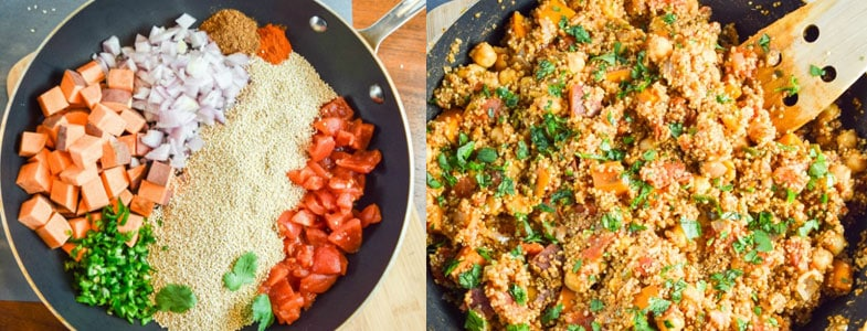 Recette végétarienne - One pot quinoa tandori