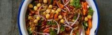 recette végétarienne blé pois chiche