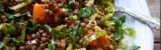 recette végétarienne salade lentilles igname